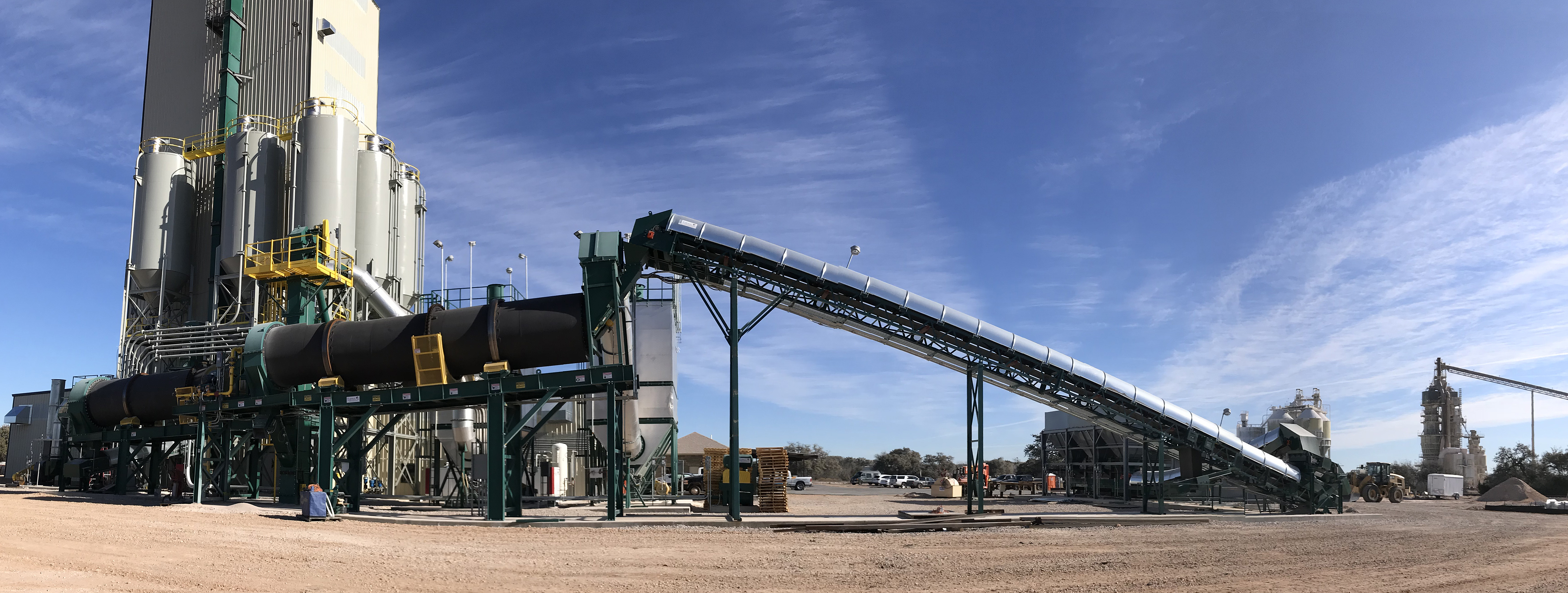 Tarmac Rotary Thermal Dryer and Rotary Cooler - Aggregate Bagging System Commissioning